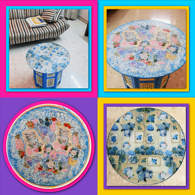 Decoupage table and cool craft Ideas for Home Decor