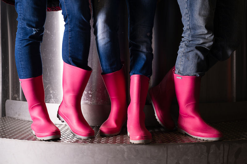 Pink boots X