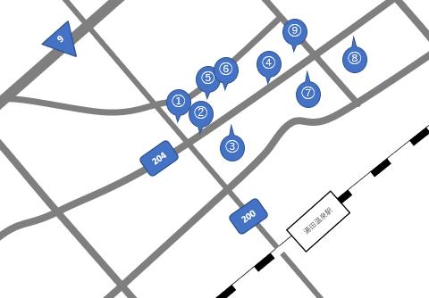 湯田温泉の地図