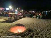 There are many beach restaurants offering seafood barbecue at Pattaya Beach