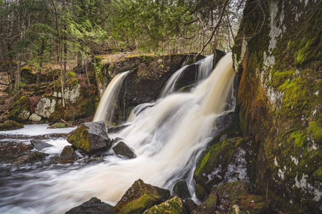 slow shutterspeed image of Spring Brook Falls near Marengo, WI