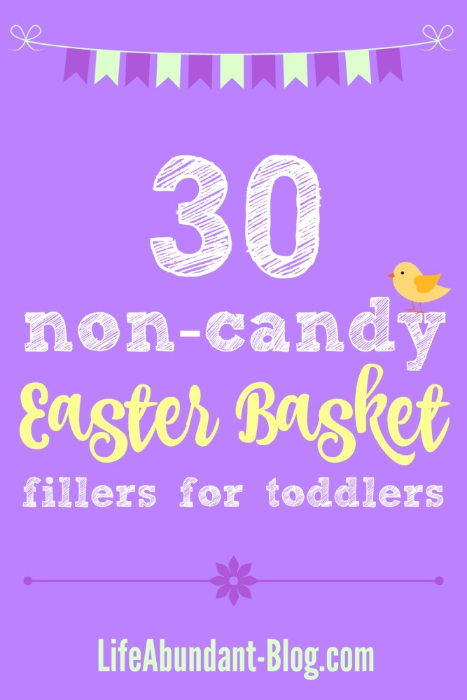 30 Non-Candy Easter Basket Fillers for Toddlers
