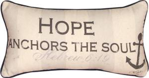 Hope Anchor Pillow