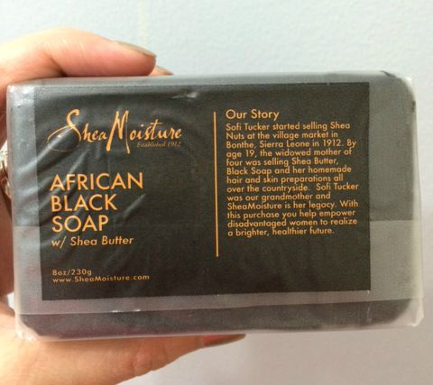 African Black Soap - back label