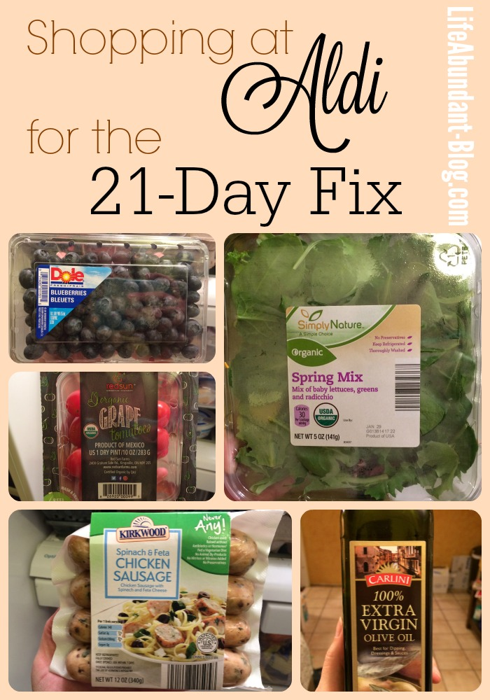 Shopping at Aldi for the 21-Day Fix {Plus: My Week #2 Meal Plan!}