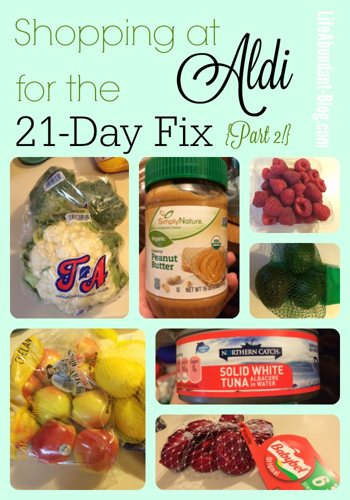 Shopping at Aldi for the 21-Day Fix, Part 2! {Plus: My Round