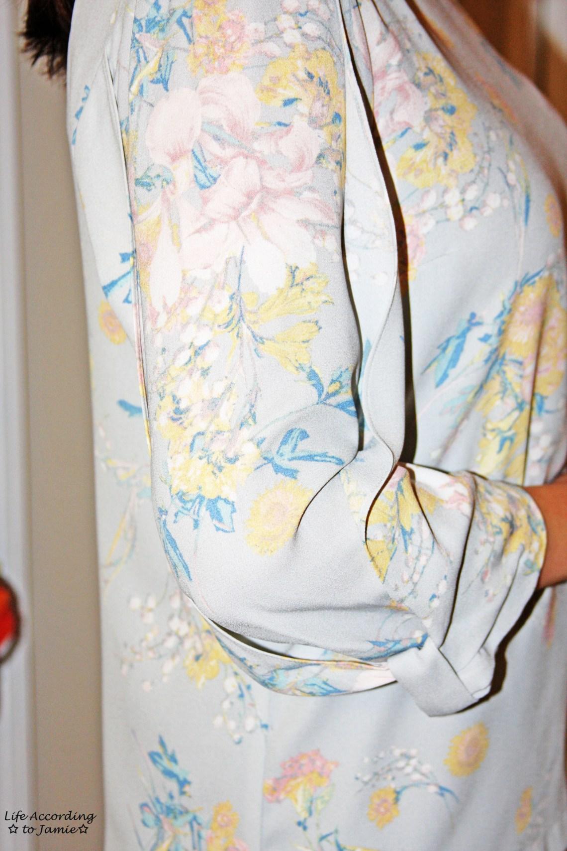 Draped Sleeve + Bow Cuff