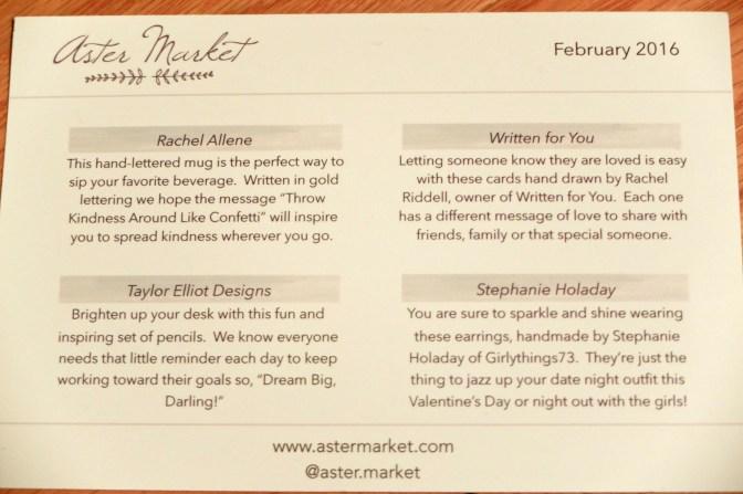 Aster Market February 2016 1