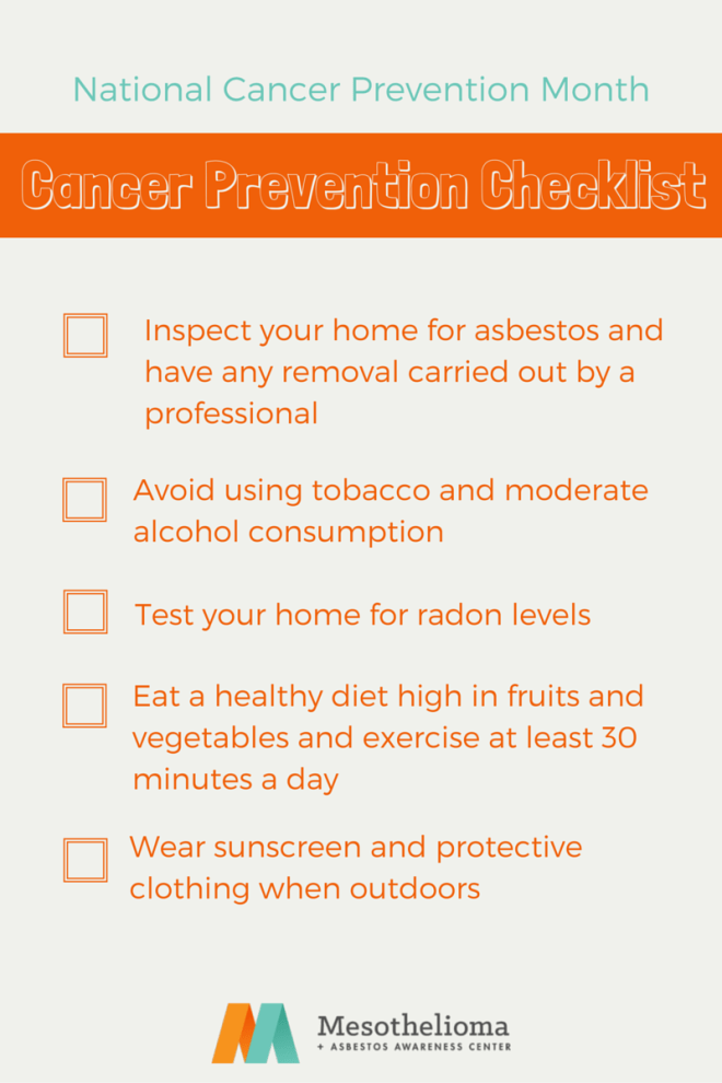Cancer Prevention Month Checklist