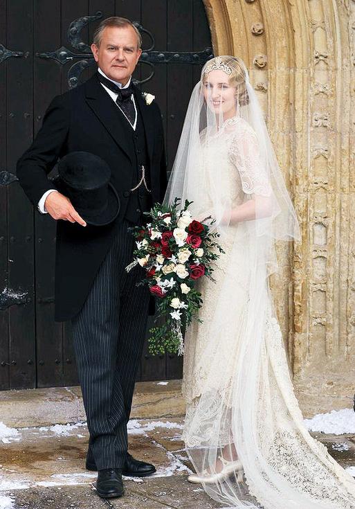downton abbey - edith wedding 2