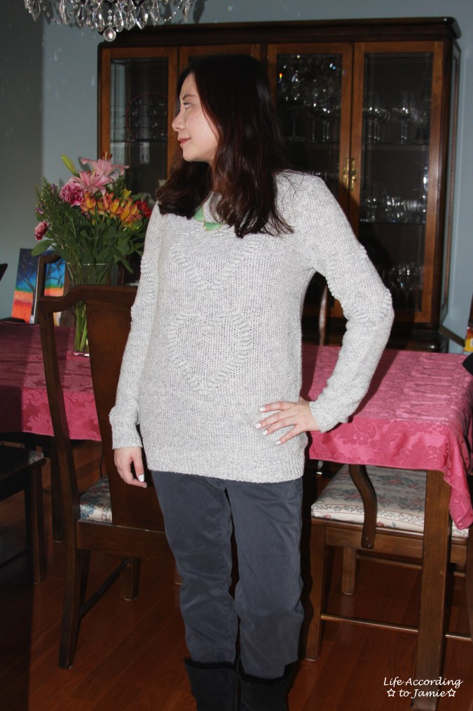 Heart Knit Sweater 4