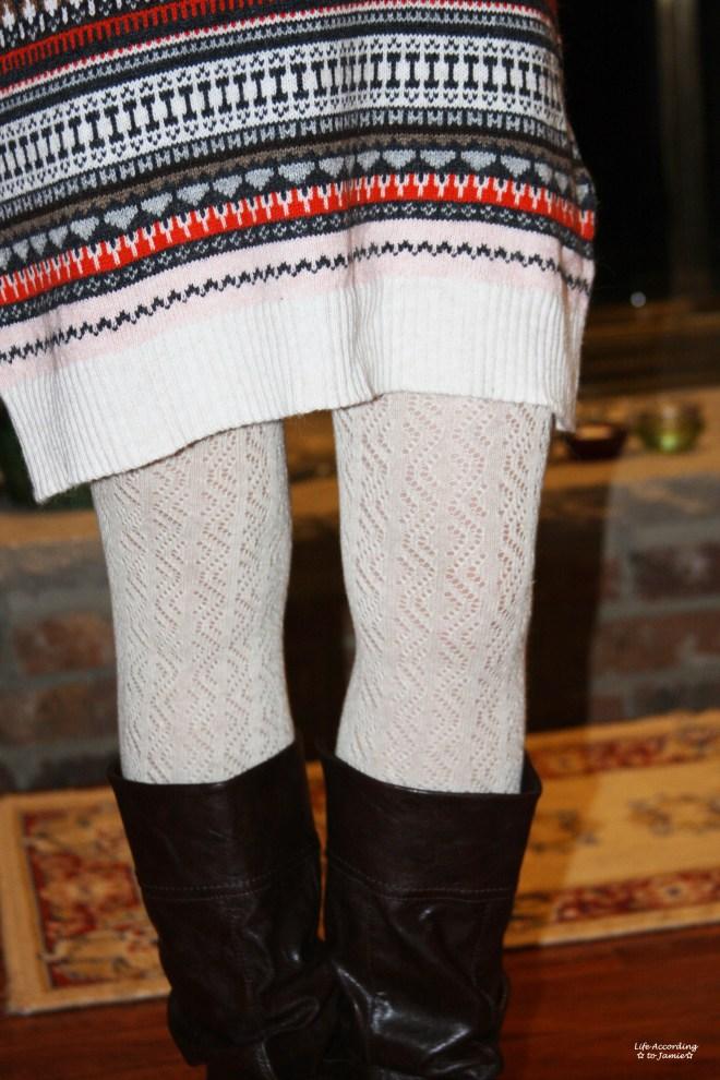 Jacquard Knit Sweater Dress 2