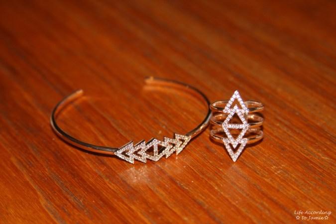 Stella & Dot Pavé Triangle 1