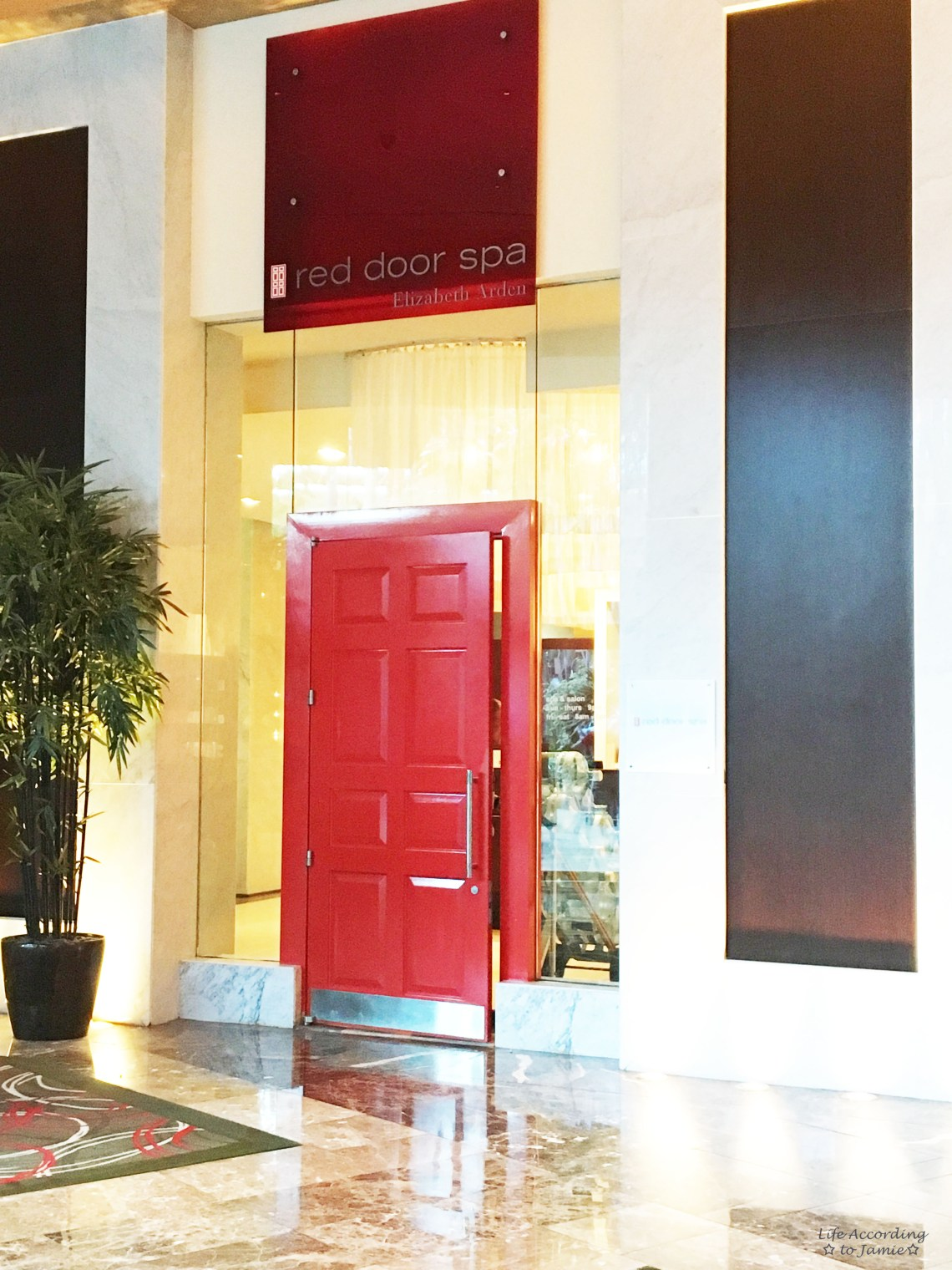 Elizabeth Arden Red Door Spa Life According To Jamie