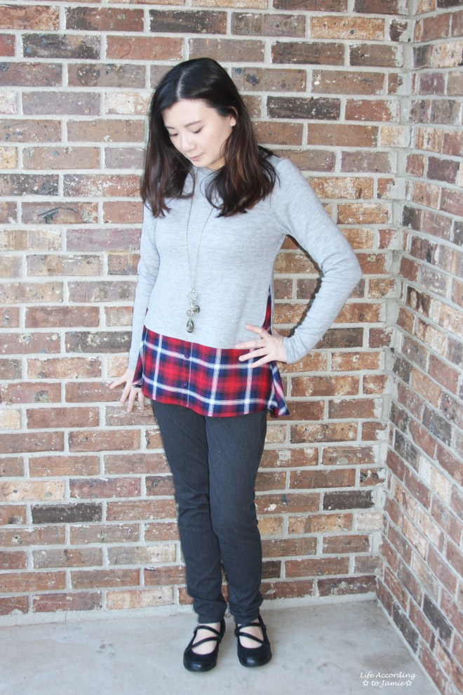 Plaid Layered Top 5