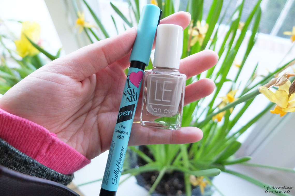 Turquoise Nail Art Pen & Lillian Eve Nail Polish