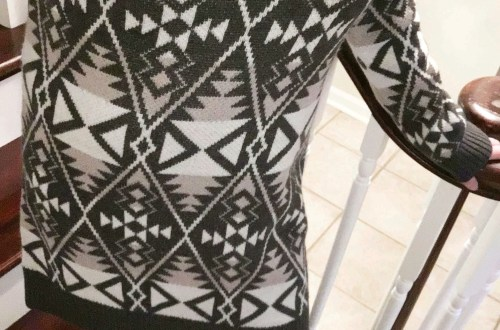 Aztec Print Sweater Dress