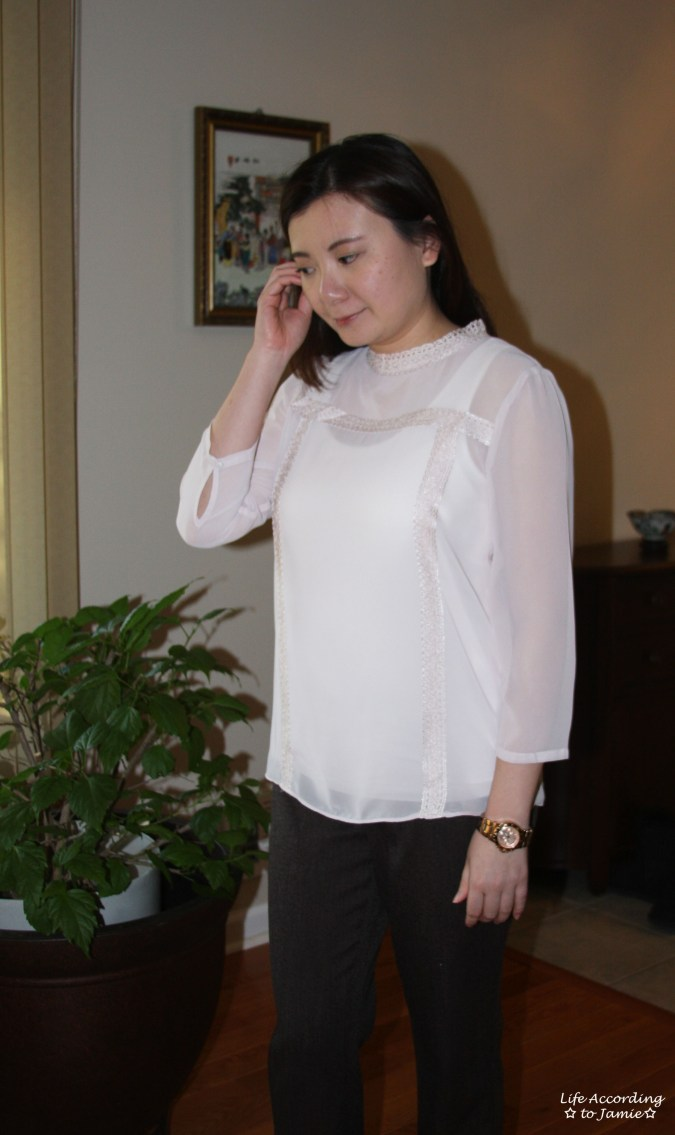 Lace Trimmed High Collar 1