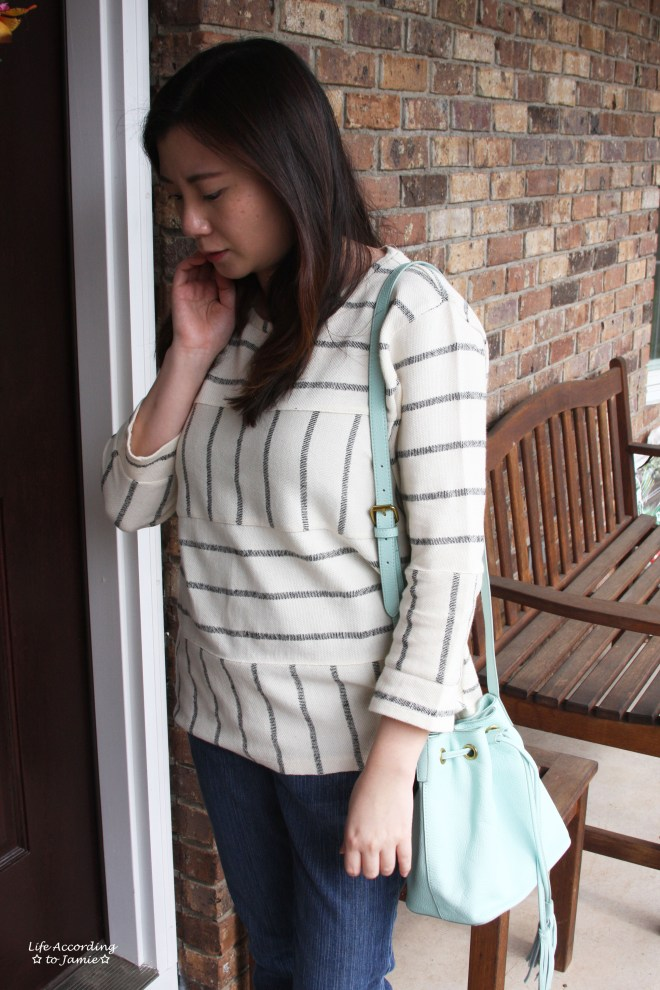 Mint Cream Bucket Bag 4