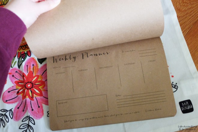 Wrinkle and Crease - Weekly Planner Notepad 1