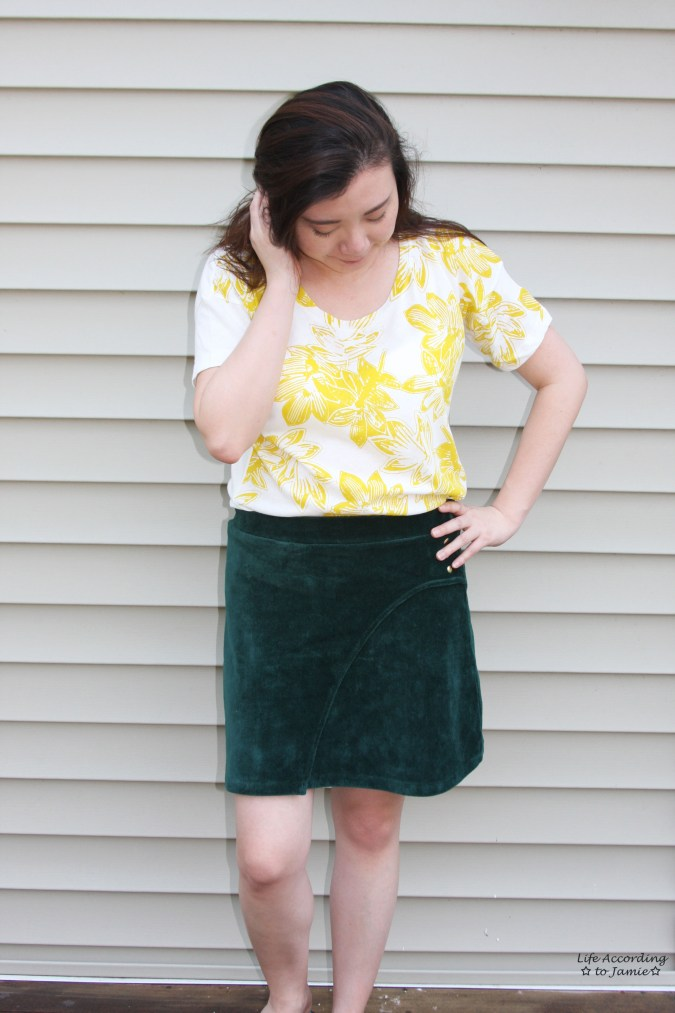 Curved Button Wrap Skirt 1