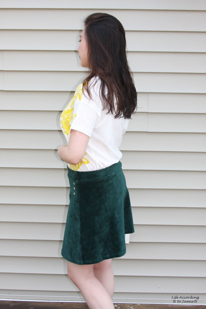 Curved Button Wrap Skirt 2