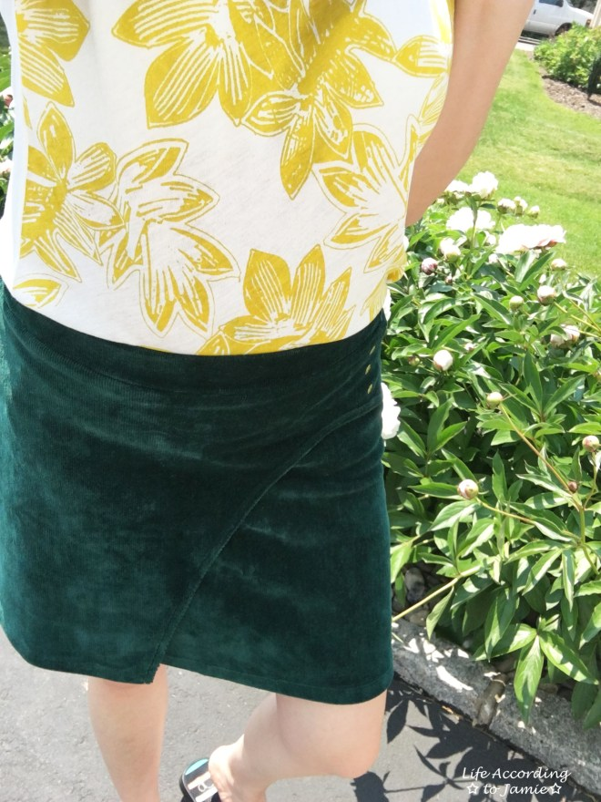 Curved Button Wrap Skirt 6