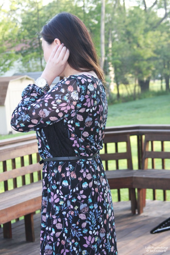 Floral + Lace Fit & Flare 2