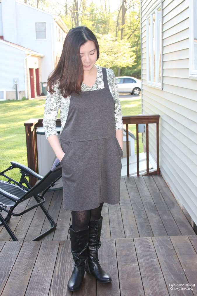 Grey Pinafore 1