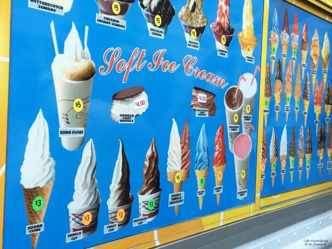 Ice Cream Truck Menu