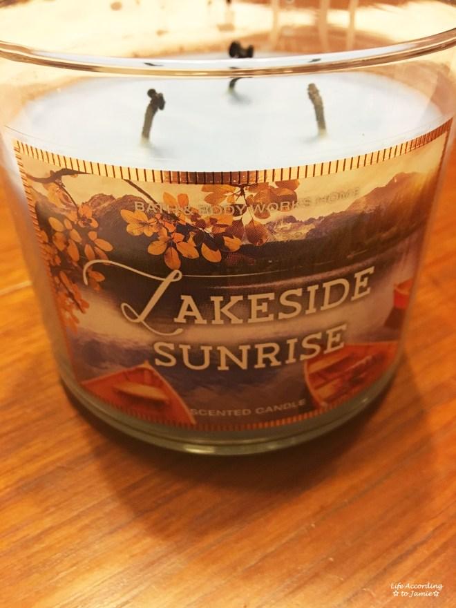 Lakeside Sunrise Candle