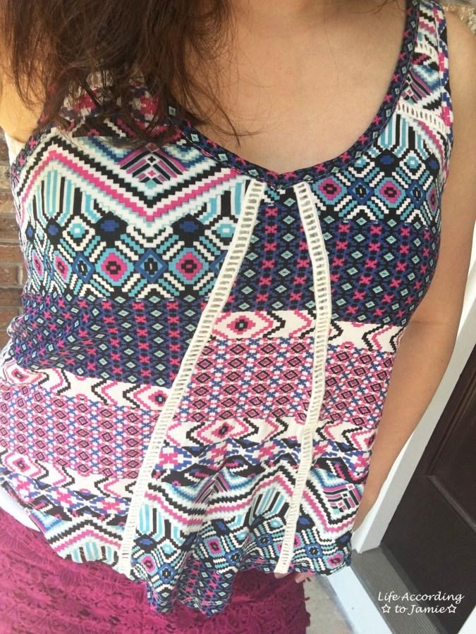 Lattice Tank & Crochet Shorts