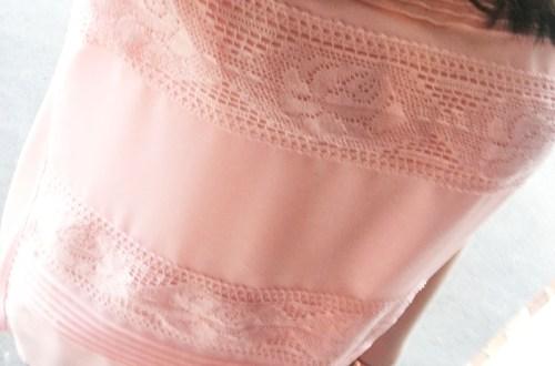 Powder Pink Lace Stripes