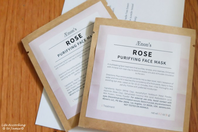 AEnon's Rose Purifying Face Mask