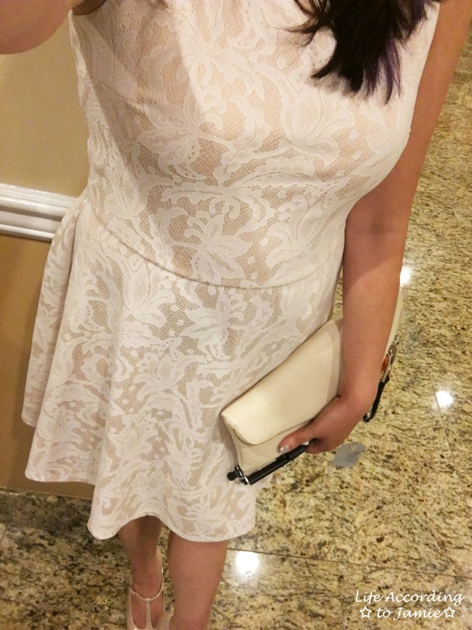 Cream Lace Dress 1