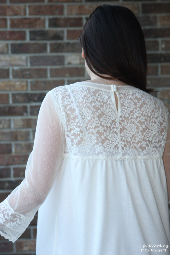 Crochet & Lace Topped Blouse 1