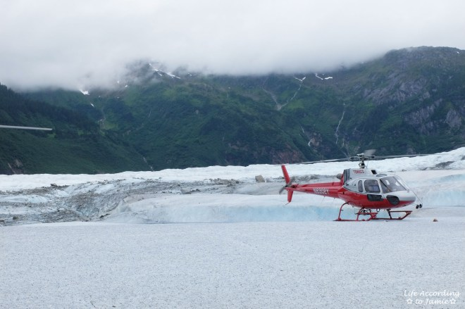 Helicopter on Mendenhall Glacier
