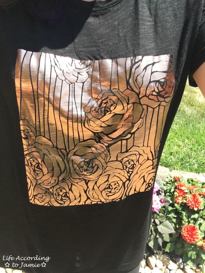 Rose Gold Roses Print 1