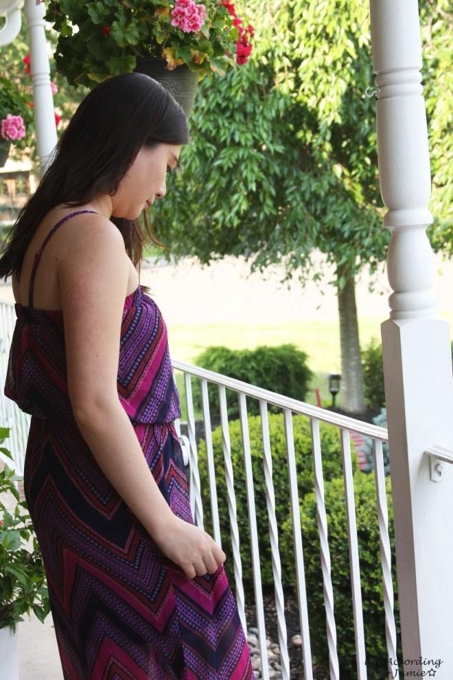 Scarf Print Maxi Dress 2