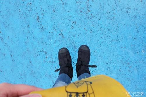 Standing on Mendenhall Glacier