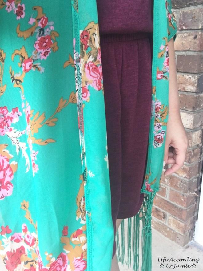 Floral Fringed Kimono 4