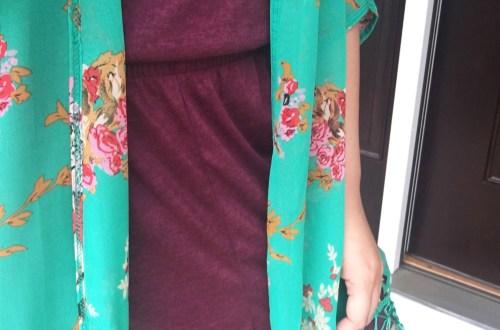 Floral Fringed Kimono