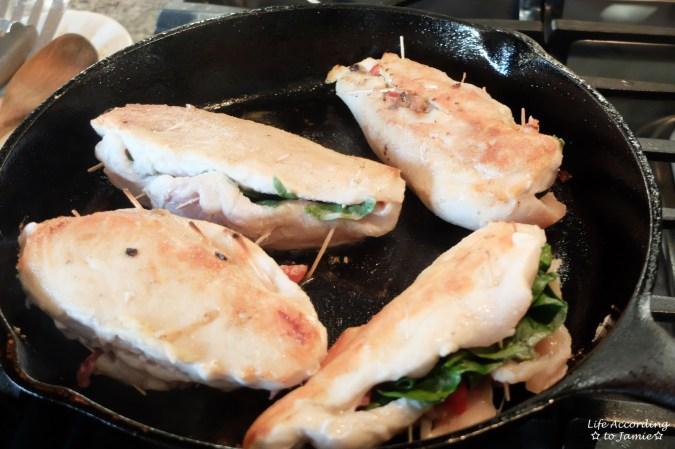 Spinach & Mushroom Stuffed Chicken 3