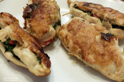 Spinach & Mushroom Stuffed Chicken