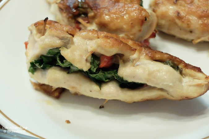 Spinach & Mushroom Stuffed Chicken 6