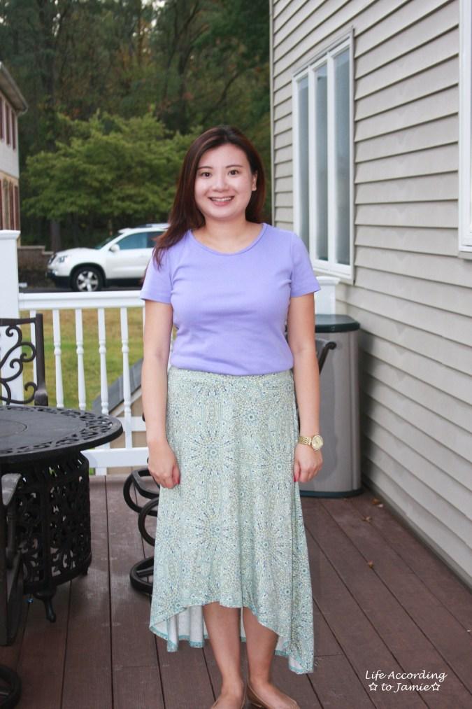mosaic-print-high-low-skirt