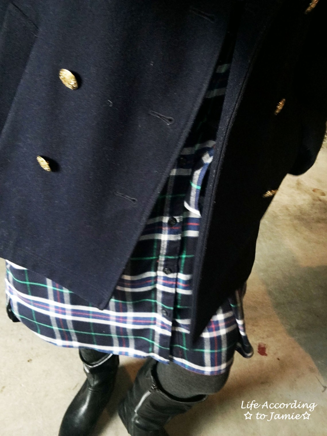 gap + pendleton blue-green-plaid-dress