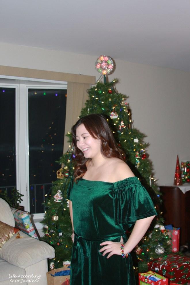 green-velvet-off-shoulder-dress-2