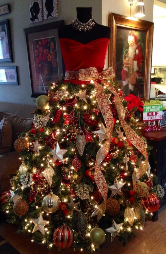 red-ornaments-mannequin-christmas-tree-dress