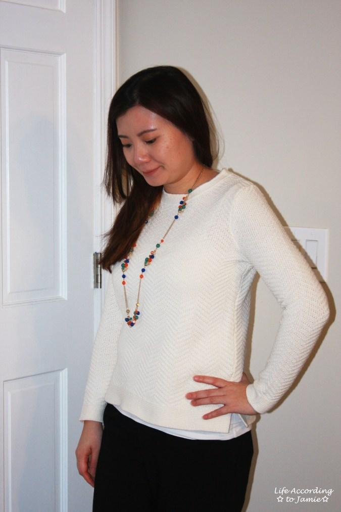 Chevron Texture Sweater 1